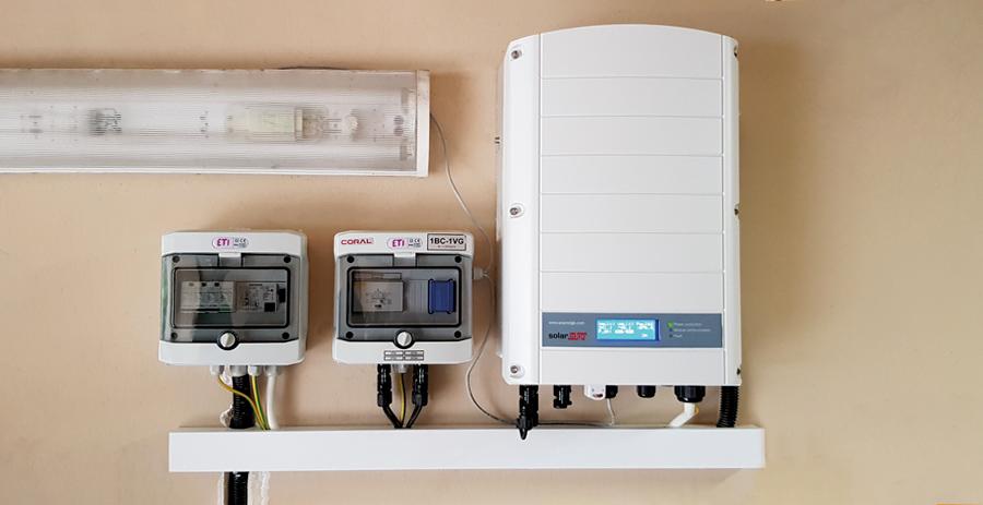 SolarEdge falownik inwerter zabezpieczenia