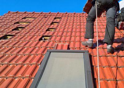 przygotowanie pod konstrukcje dachowa