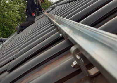 Konstrukcja montażowa K2 Systems pod panele fotowoltaiczne dachówka ceramiczna
