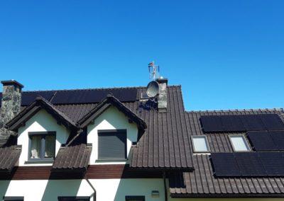 Panele fotowoltaiczne całość na systemie SolarEdge