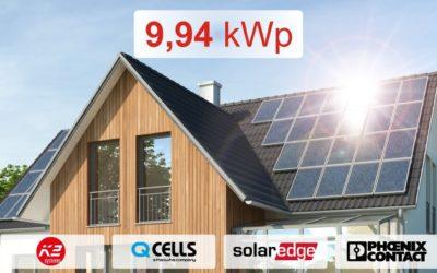 Zestaw SolarEdge 9,94 kWp z montażem