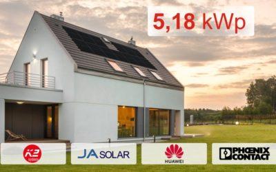 Zestaw Huawei 5,18 kWp z montażem