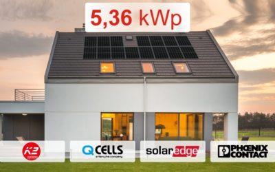 Zestaw SolarEdge 5,36 kWp z montażem