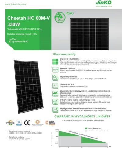 Jinko solar Cheetah HC 60M 330W karta katalogowa 01