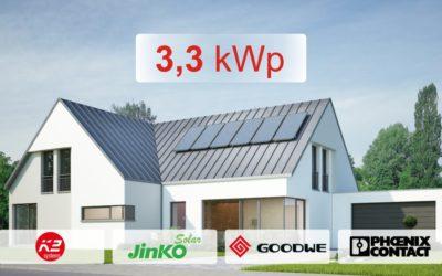 Zestaw GoodWe 3,3 kWp z montażem