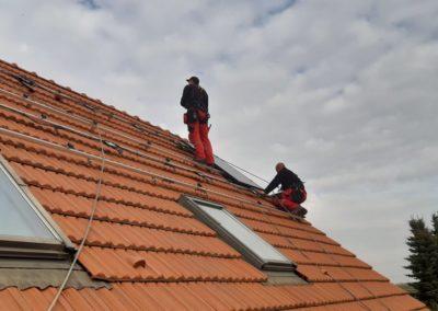 montaż modułów fotowoltaicznych na dachu Kraków Bisolar Energy